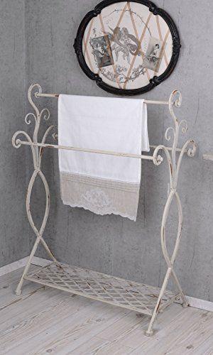 Handtuchhalter / Handtuchständer in Weiß Klassisch schöner Ständer - handtuchhalter für küche