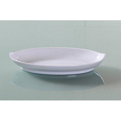 Alcott Hill Worceer Oval Deep Melamine Dessert Plate Glass Dinnerware Dessert Bowls