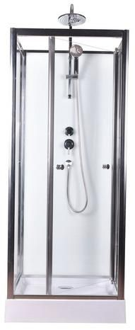 cabine de douche blanc profil s en aluminium chrom h 218. Black Bedroom Furniture Sets. Home Design Ideas