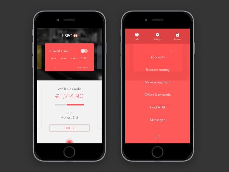 HSBC-APP | Mobile UI Inspiration | App, Mobile ui, Iphone