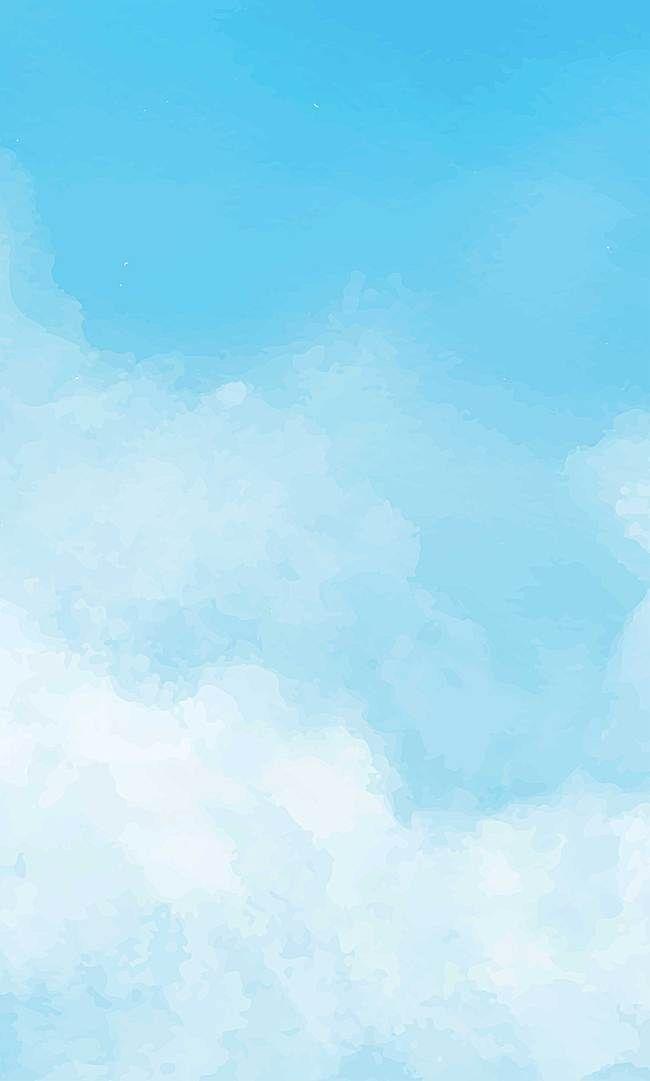 空 大気 天気 雲 背景 | 水彩画 空, 雲 イラスト かわいい, 青い壁紙 ...