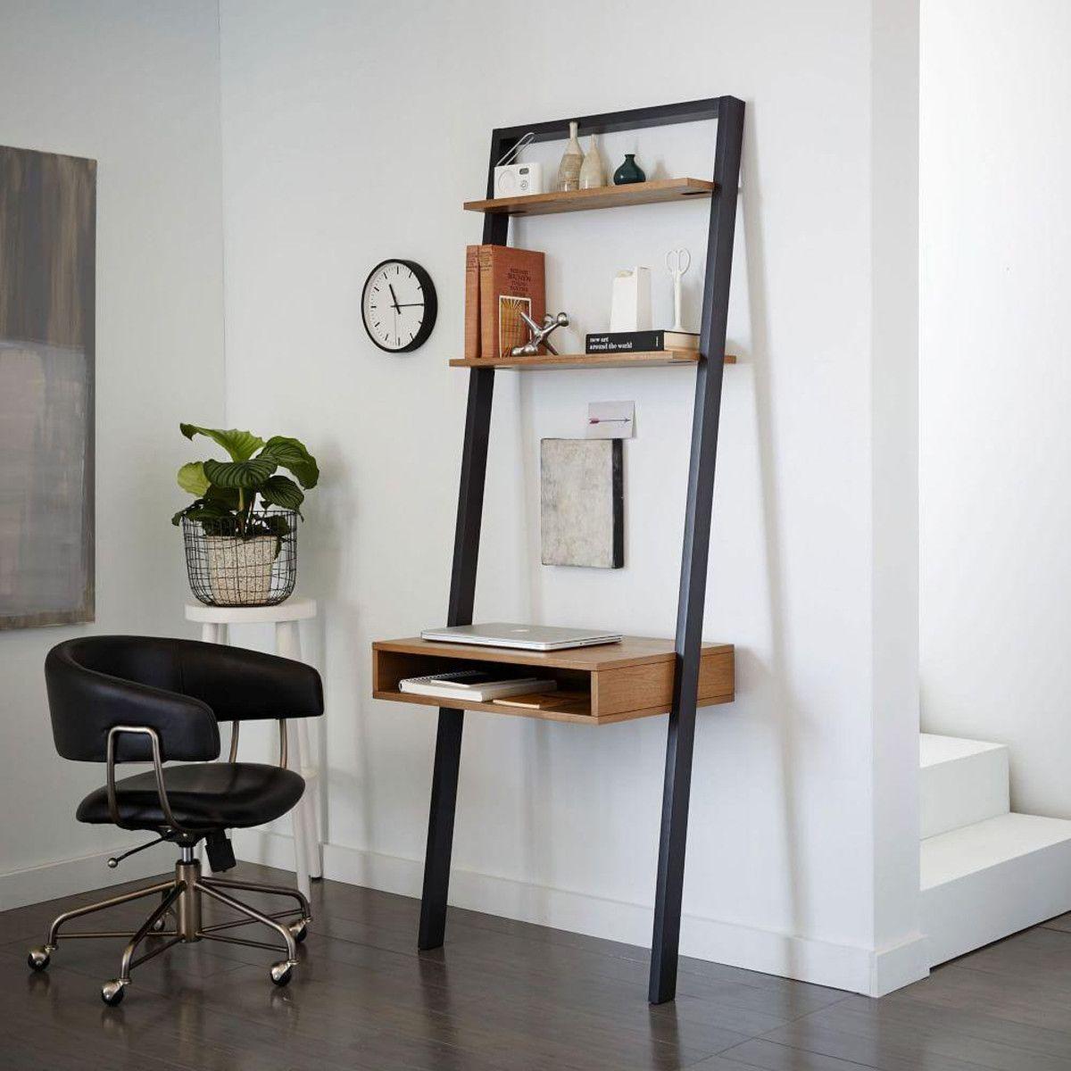 Ladder Shelf Storage Desk | Brennan Remodel Project | Pinterest ...