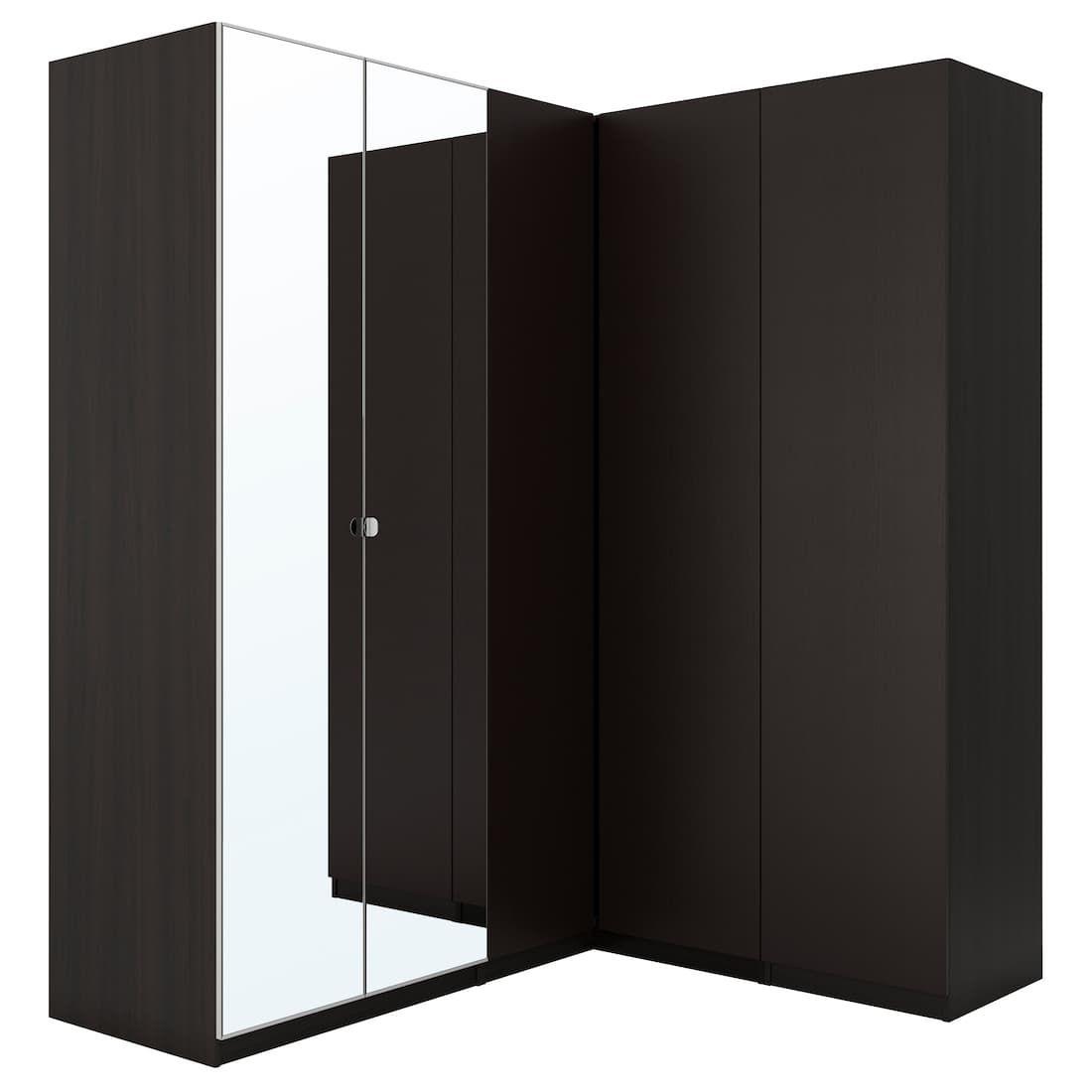 PAX Corner wardrobe blackbrown, Forsand Vikedal 82 3/4