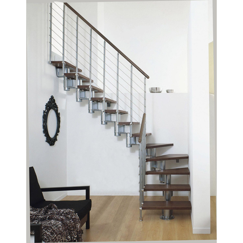 Escalier Long Line Pixima Modulaire En Bois Et Metal 12 Marches Escalier Modulaire Escalier Escalier Bois Metal