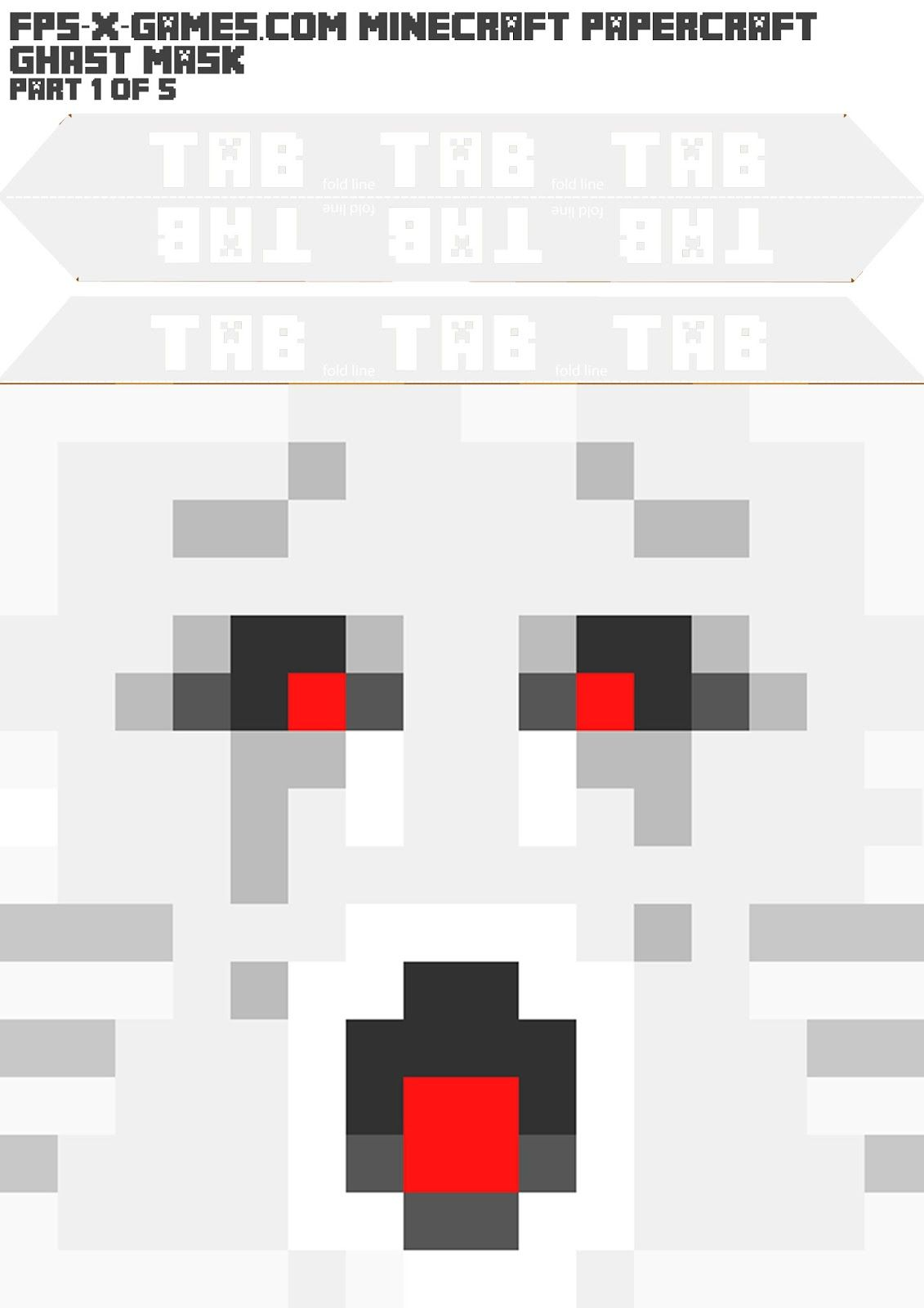 This is an image of Gutsy Minecraft Masks Printable