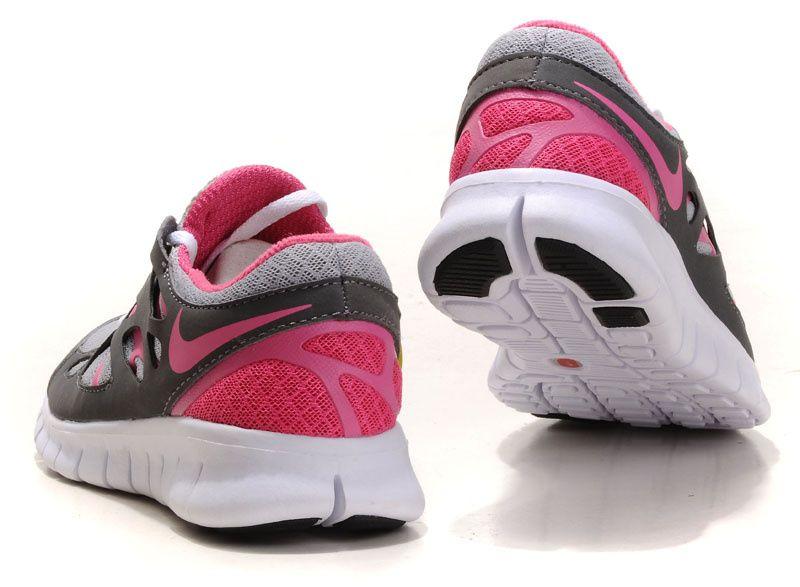 promo code 98b6e 84c2e Mujer Free Run 2 Zapatillas Blanco Gris Rojo