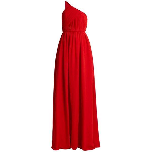 One-shoulder silk-chiffon gown Lanvin aQT7Vvu5d4