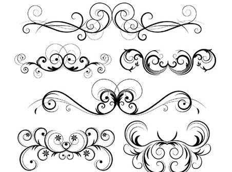 Free Ornate Vector Swirls - Free Vector Downloads - Free