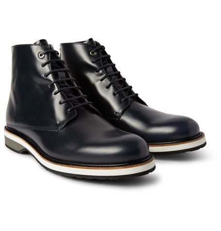 WANT Les Essentiels de la Vie - Montoro High Matte-Leather Derby Boots