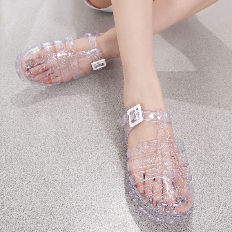 Vintage Zapatos 2014 Sandalias Plástico Cristal Cheap Transparente 8nwPO0k