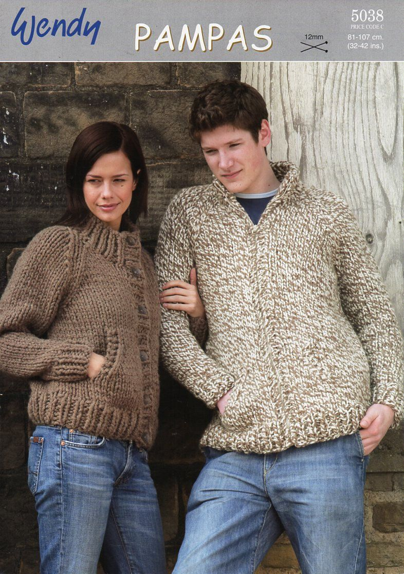 original womens / mens super chunky jackets knitting pattern Wendy ...