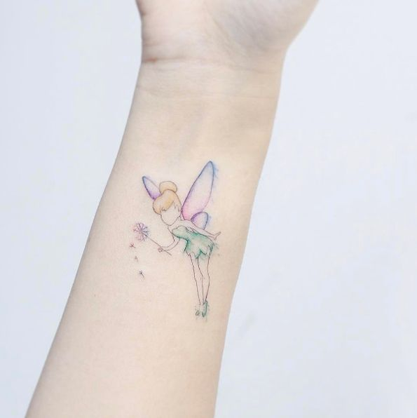 Tinker Bell tattoo by Mini Lau