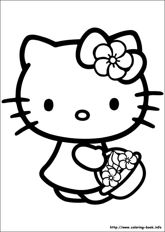 Pin Van Chantelle Esterhuizen Op Coloring - Hello Kitty Kleurplaten,  Cartoons, Thema