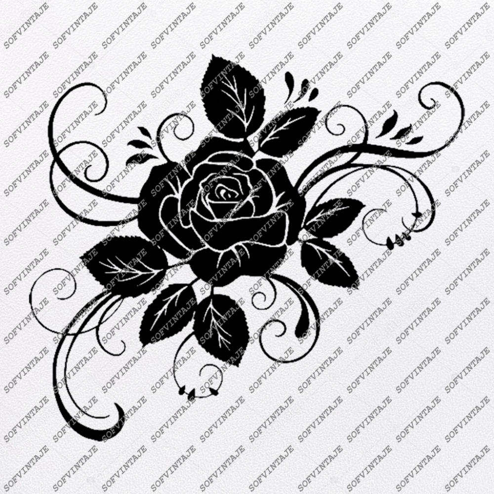 Rose Svg FileFlower of Love Original Svg DesignTattoo