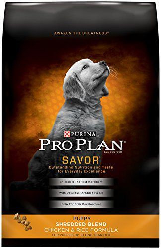 Purina Pro Plan Dry Dog Food, Savor, Puppy Shredded Blend