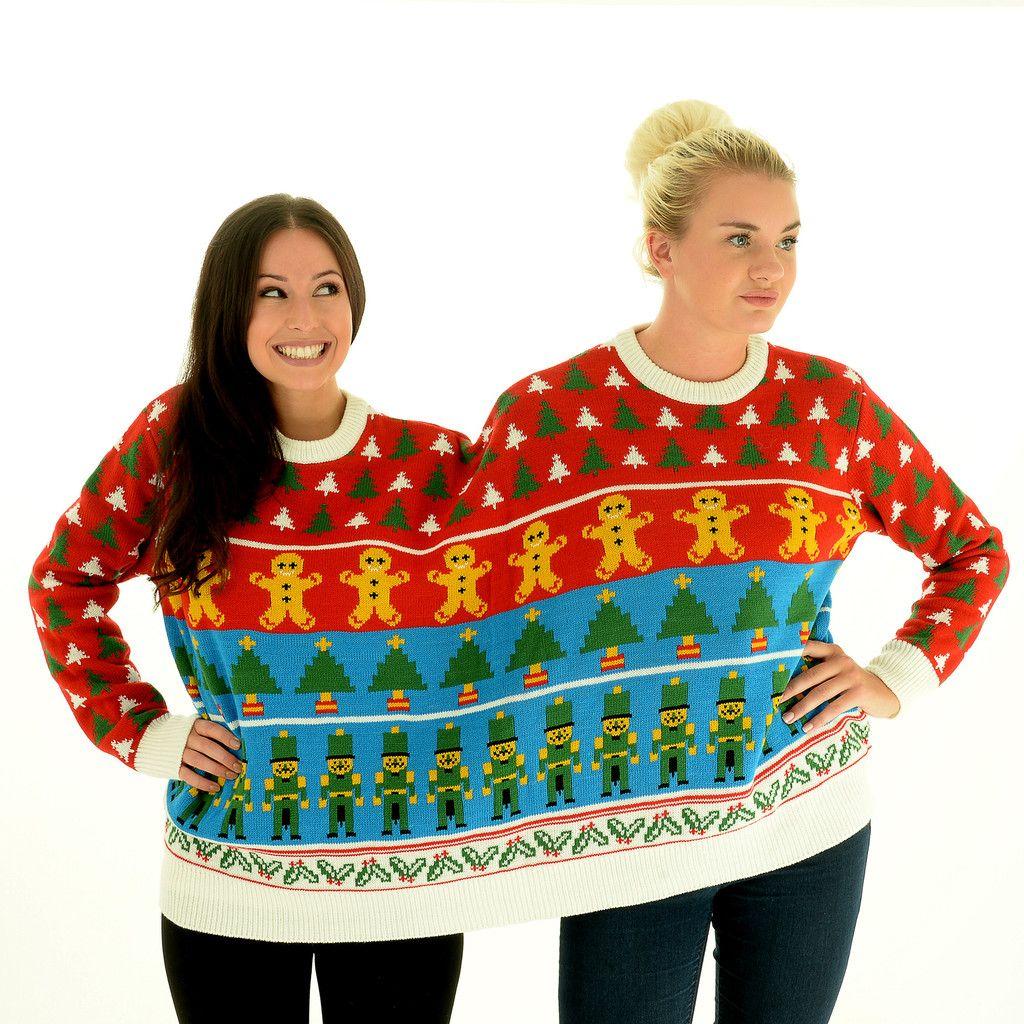 BFF Nutcracker Twosie 2 Person Christmas Sweater