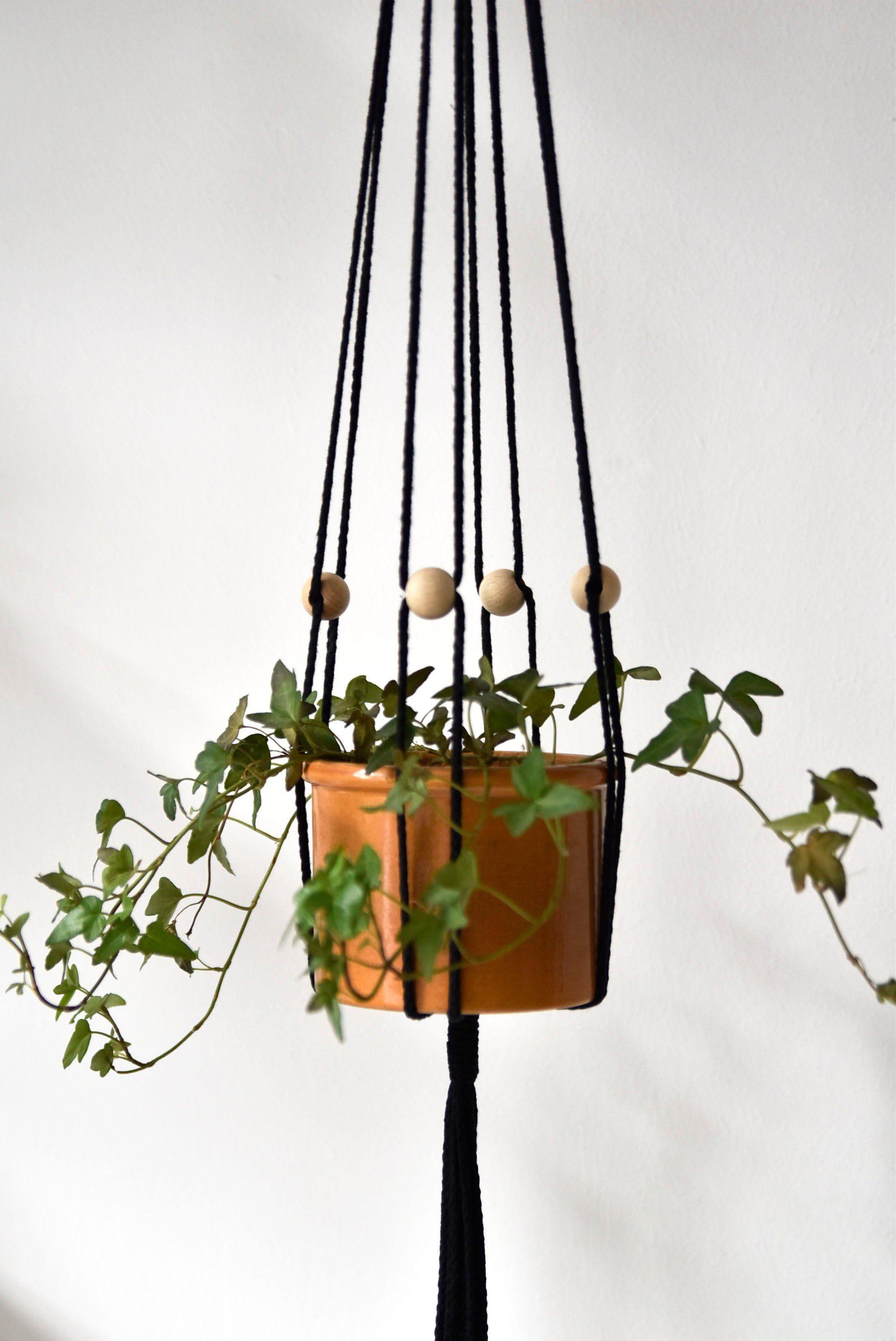 Adjustable macrame plant hanger modern macrame hanging