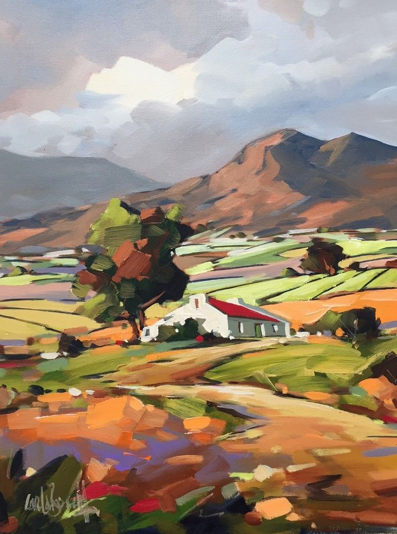 Quot Farmhouse In The Mountains Quot Oil Painting By Carla Bosch
