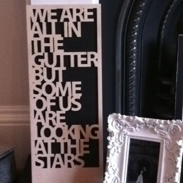 Oscar Wilde Quote Carved In Wood