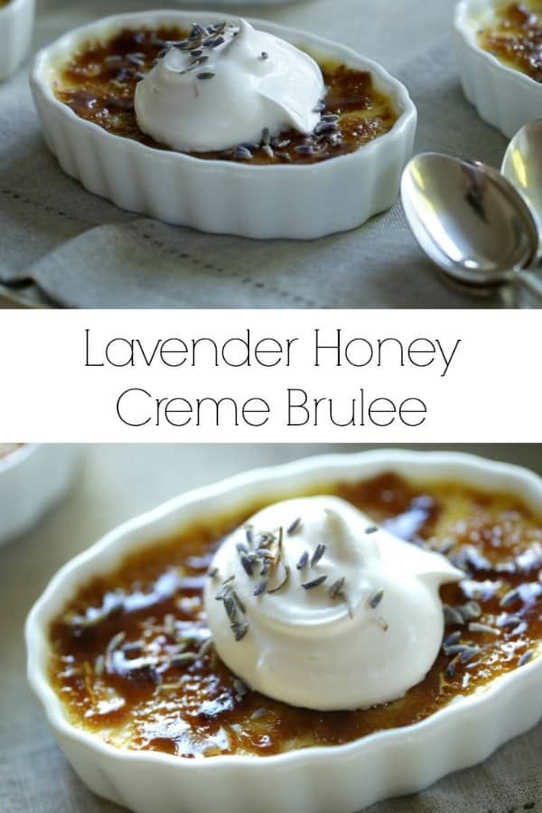 Honey Lavender Creme Brulee Recipe #cremebrulée