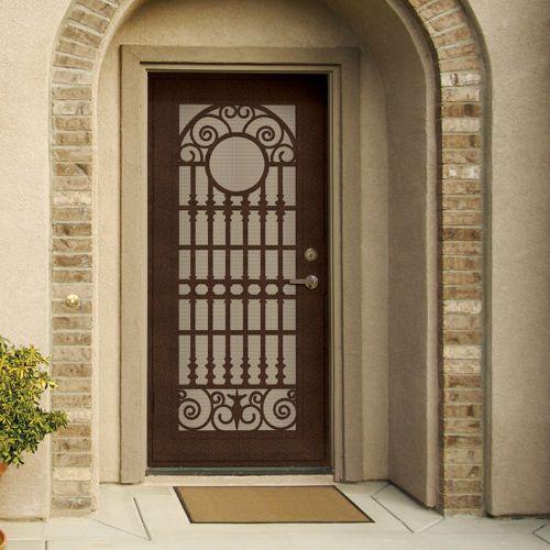 Spaniard Copperclad 36 X 80 Security Door By Titan Security Door Diy Front Porch Security Screen Door