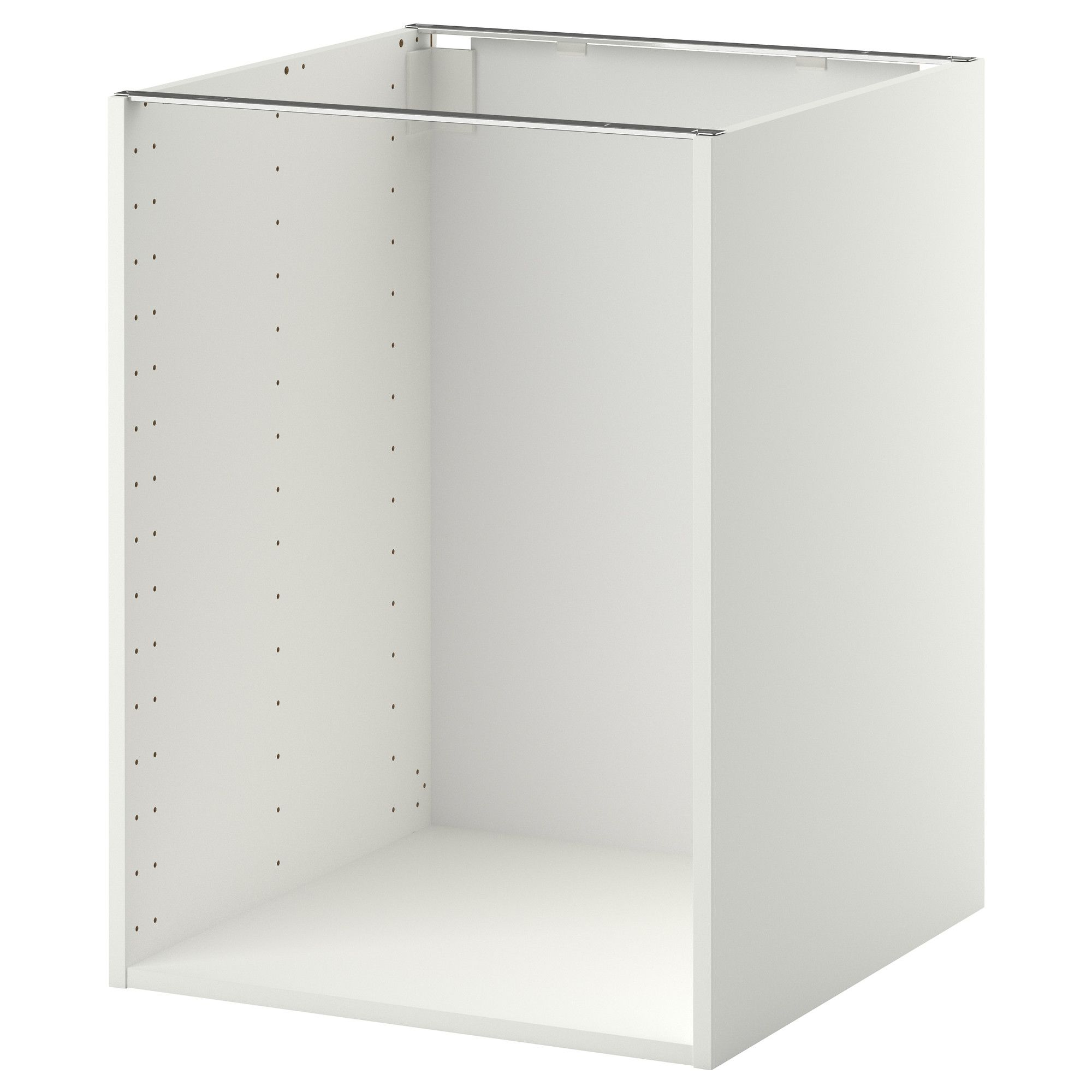 Element Haut Cuisine Ikea Metod Base Cabinet With Wire Baskets White Voxtorp High Gloss