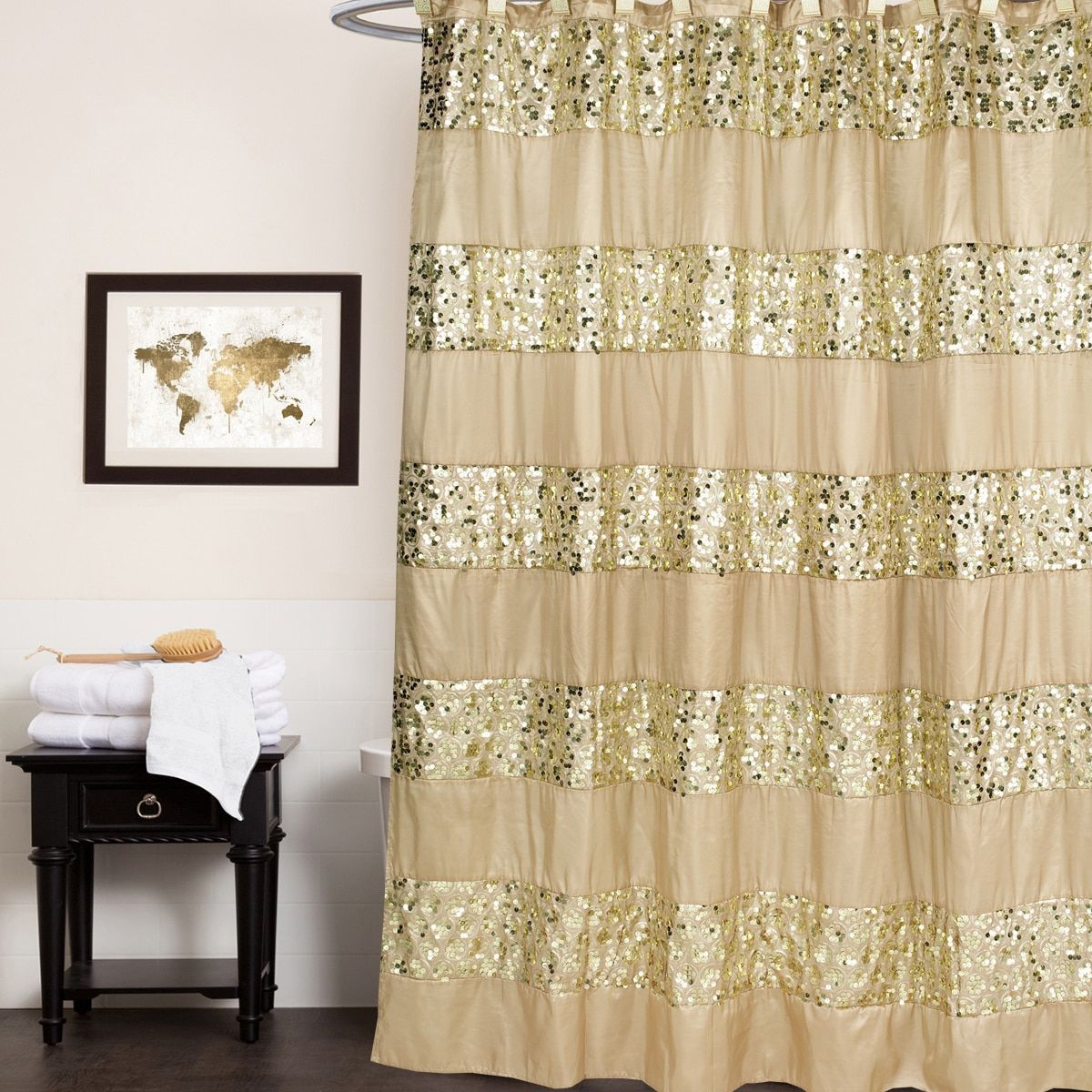 Luxury Shower Curtain And Hooks Set Or Separates Luxury Shower