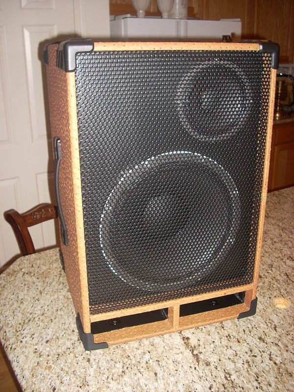 My Bass Cabinet, Includes A Tutorial On Covering Cabinets In Tolex (vinyl).