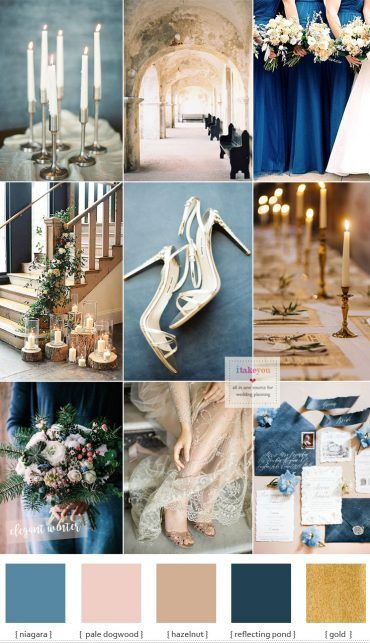 Blue And Gold Wedding Theme For Elegant Winter Wedding Gold
