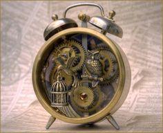 Steampunk Alarm Clock Steampunk Clock Clock Art Steampunk House