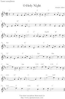 Free Printable Sheet Music: O Holy Night, free Christmas tenor