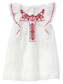 Paddington Bear™ for babyGap embroidered flutter dress
