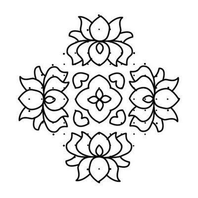 flower kolam designs and patterns in bharatmoms.com | Kolams and ...