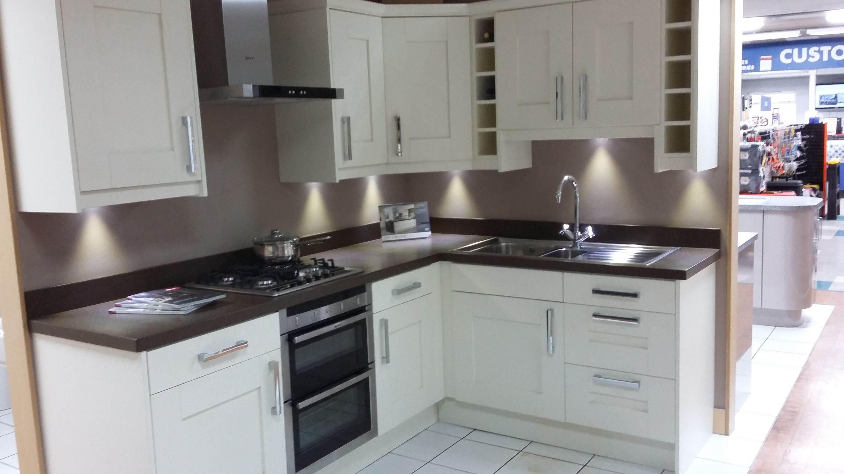 Kitchen Showroom Studio York Ivory Kitchen With Chrome D Handles At Our Newton