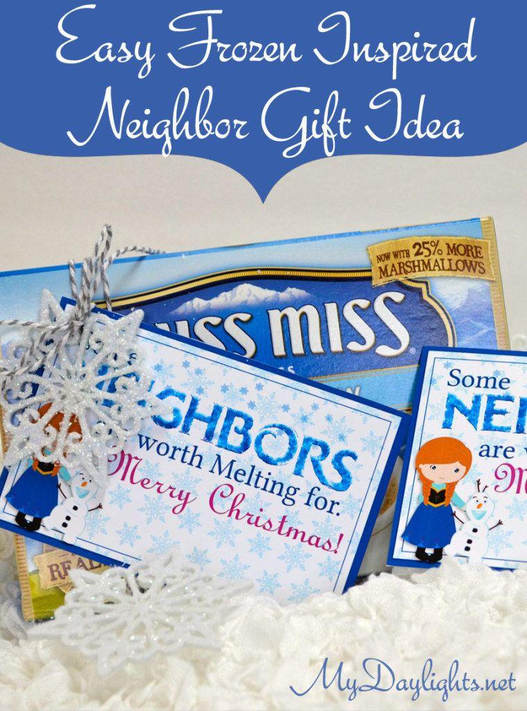 Easy Frozen inspired neighbor gift idea - are your neighbors worth melting for?