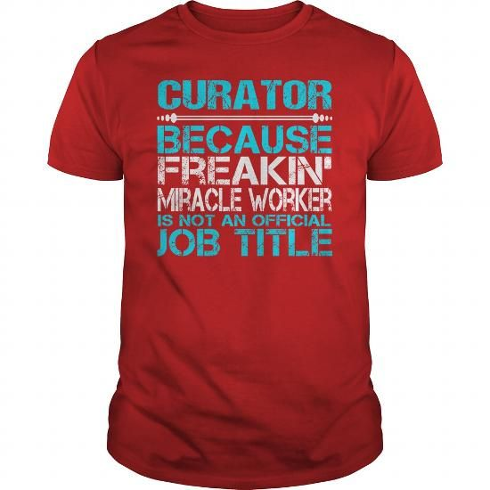 AWESOME TEE FOR CURATOR T-SHIRTS, HOODIES, SWEATSHIRT (22.99$ ==► Shopping Now)