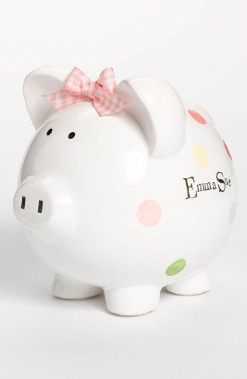 Someday Inc Personalized Piggy Bank Nordstrom Personalized Piggy Bank Piggy Bank Personalized Piggy Bank Girl