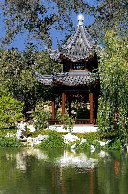 The Pavilion of the Three Friends at the Huntington