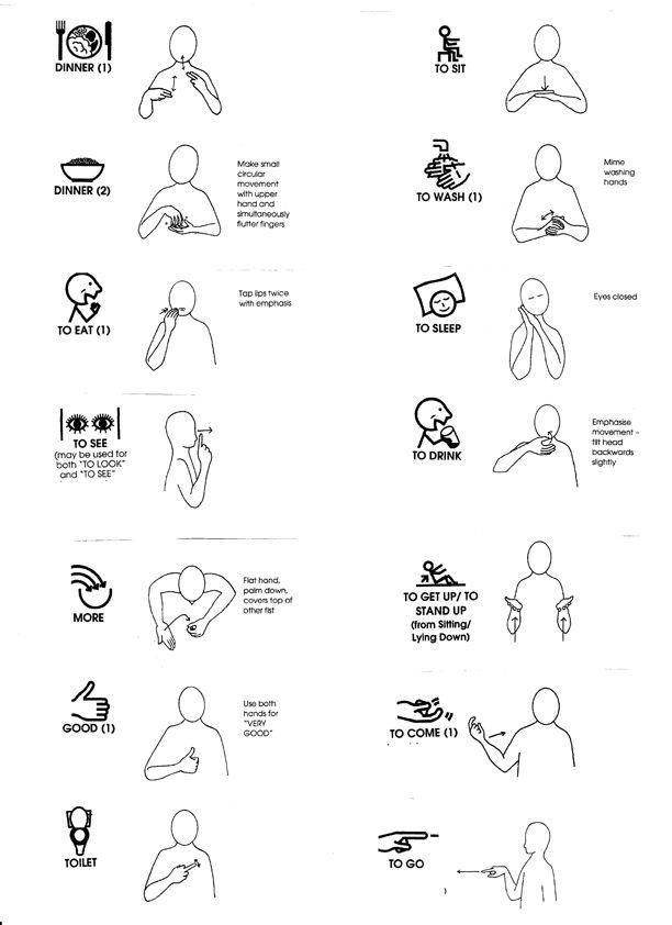 makaton signs the hamptons day nursery sign language