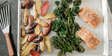 Salmon Sheet Pan Supper with Horseradish Sauce Recipes | Food Network Canada