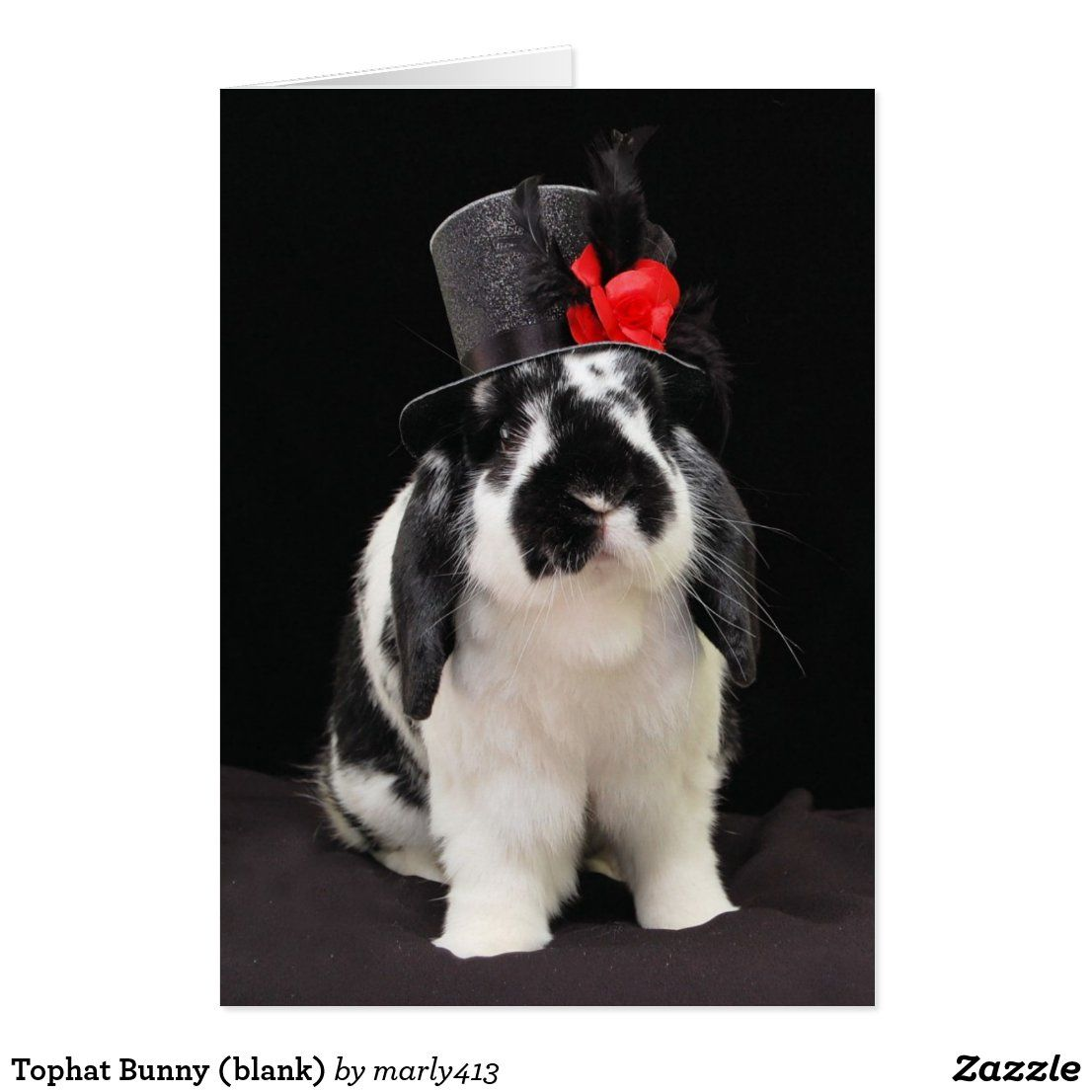 Tophat Bunny (blank)