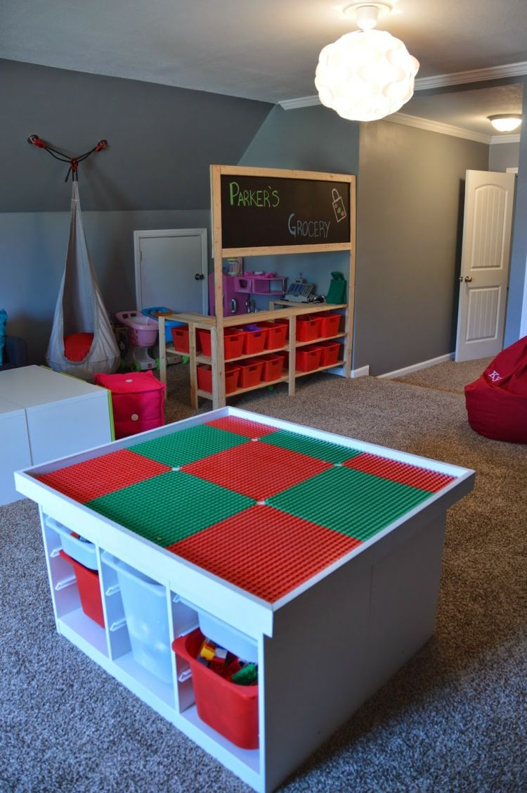 Build a Lego table for the nursery DIY ideas for a great