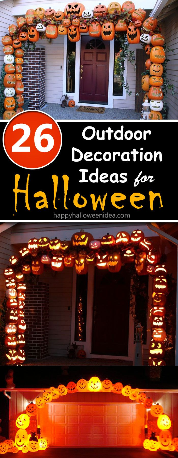 26 Outdoor Halloween Decoration Ideas to Spook Out Your