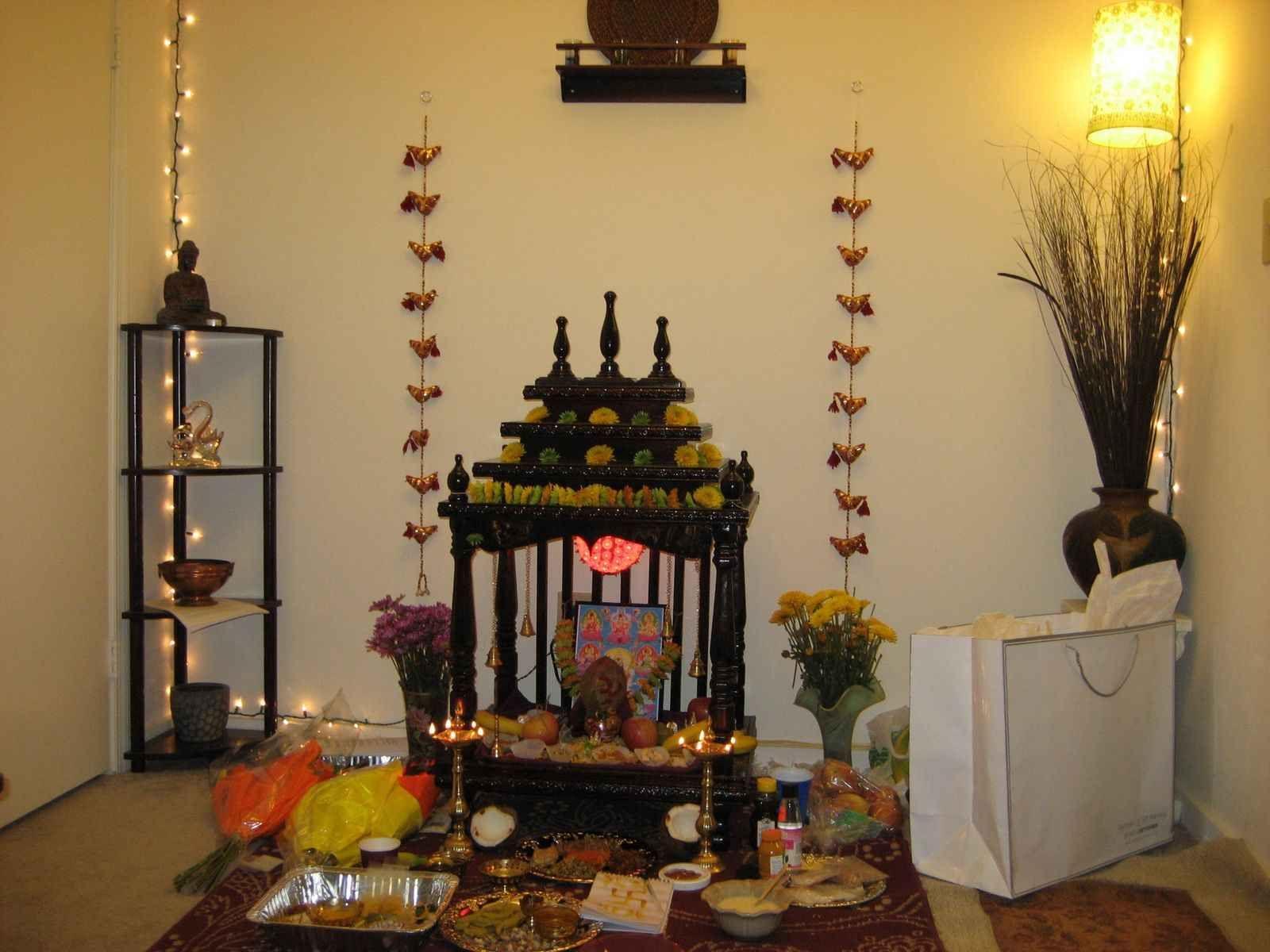 puja room design. home mandir. lamps. doors. vastu. idols placement ... for Diwali Puja Decoration At Home  155fiz