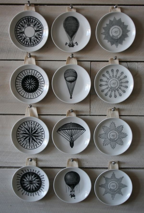 Decorative vintage inspired wall plates - Home Decorating Trends