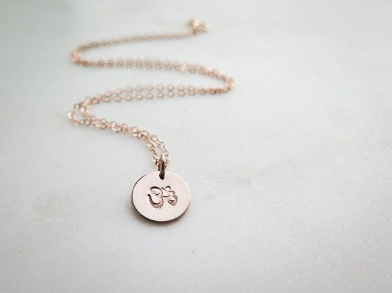 e91e7202378c89 Ohm Necklace - Ohm Om Symbol - Hand Stamped Jewelry by Betsy Farmer Designs  Rose Gold Fill