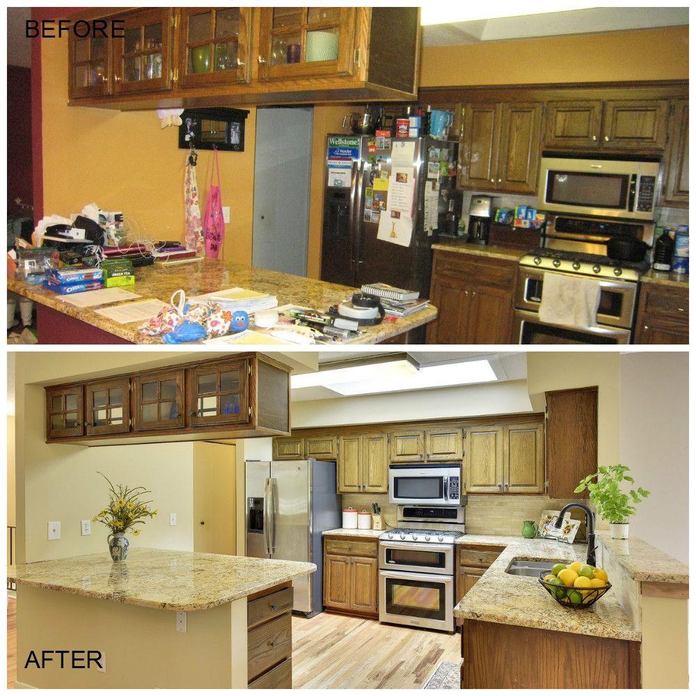 Occupied Home Staging Project Before and After: The kitchen was  de-cluttered so that the beautiful granite countertops and stainless …    Home staging, Staging, Home