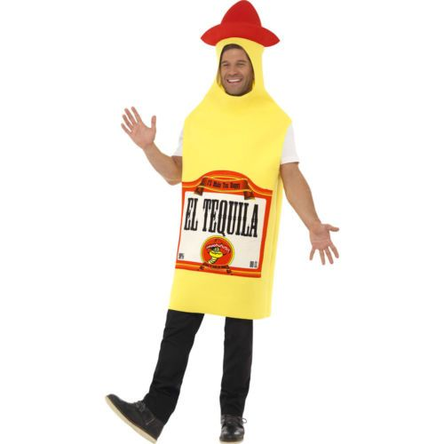 Mexican Fancy Dress Costume Tequila Bottle Outfit Comedy Stag Party ...