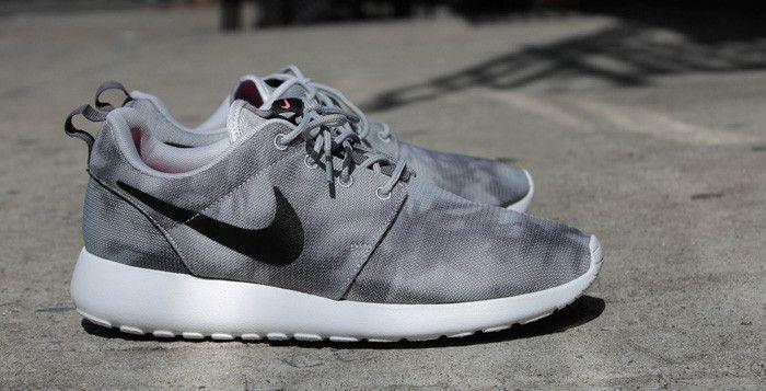 """Nike Roshe Run Print """"Marble"""" Wolf Grey"""