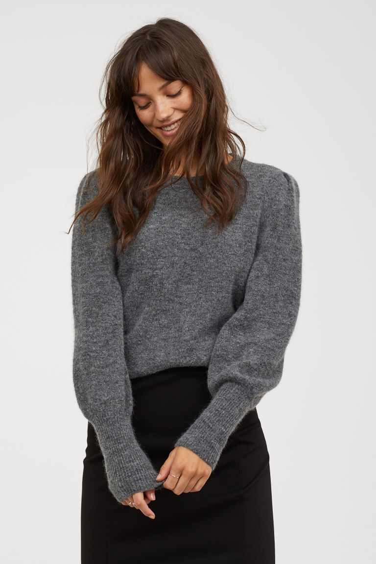 Strikket genser i ullmiks